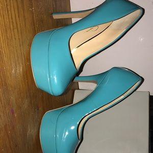 Heels Jessica Simpson blue stilettos